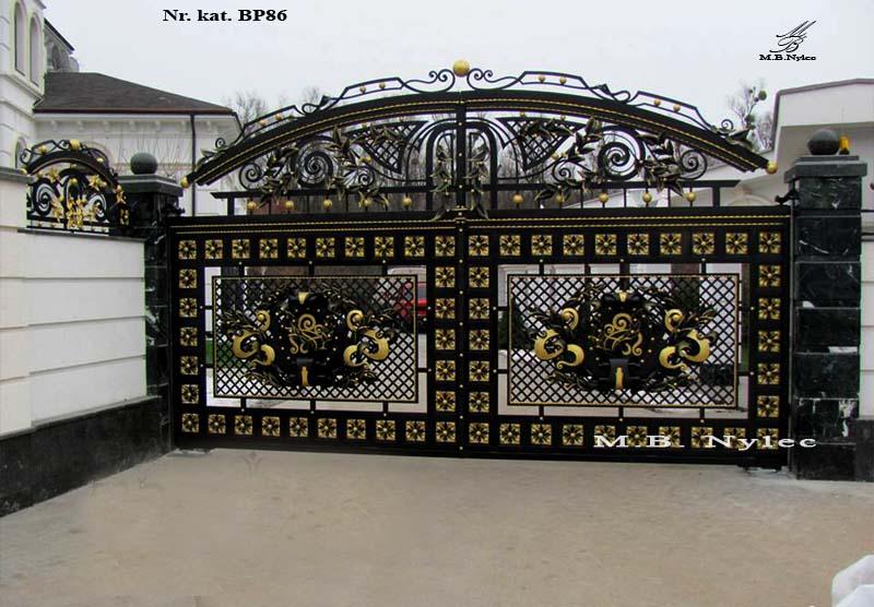 ekskluzywna brama ażurowa bp86
